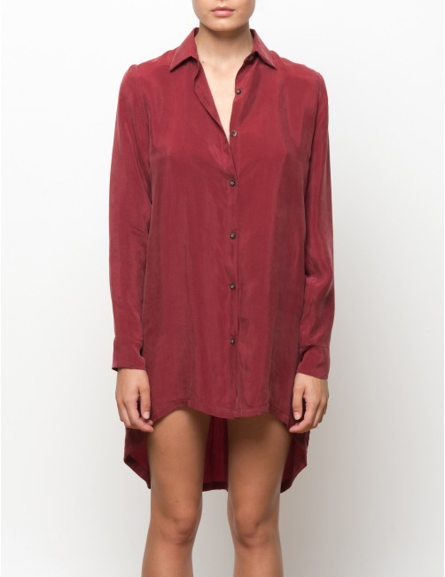 KIGO cupro long sleeves shirt - MASAAI - RESET PRIORITY