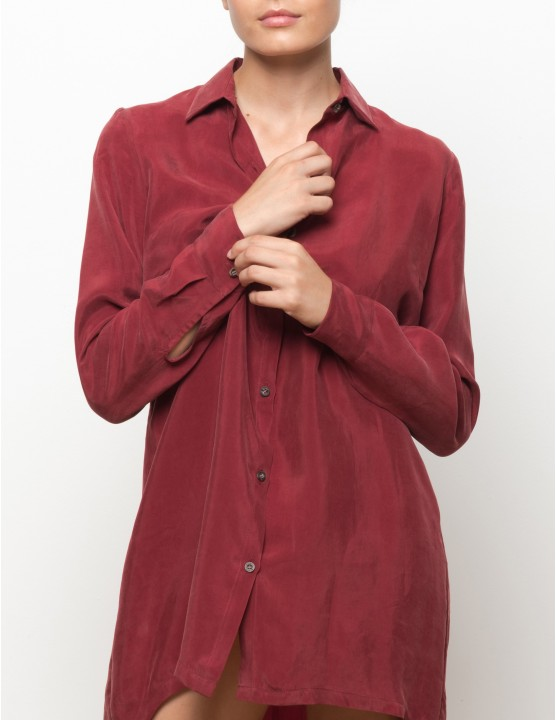 KIGO cupro long sleeves shirt - MASAAI - RESET PRIORITY