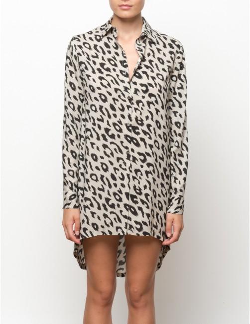 KIGO long sleeves shirt - LEOPARD - RESET PRIORITY