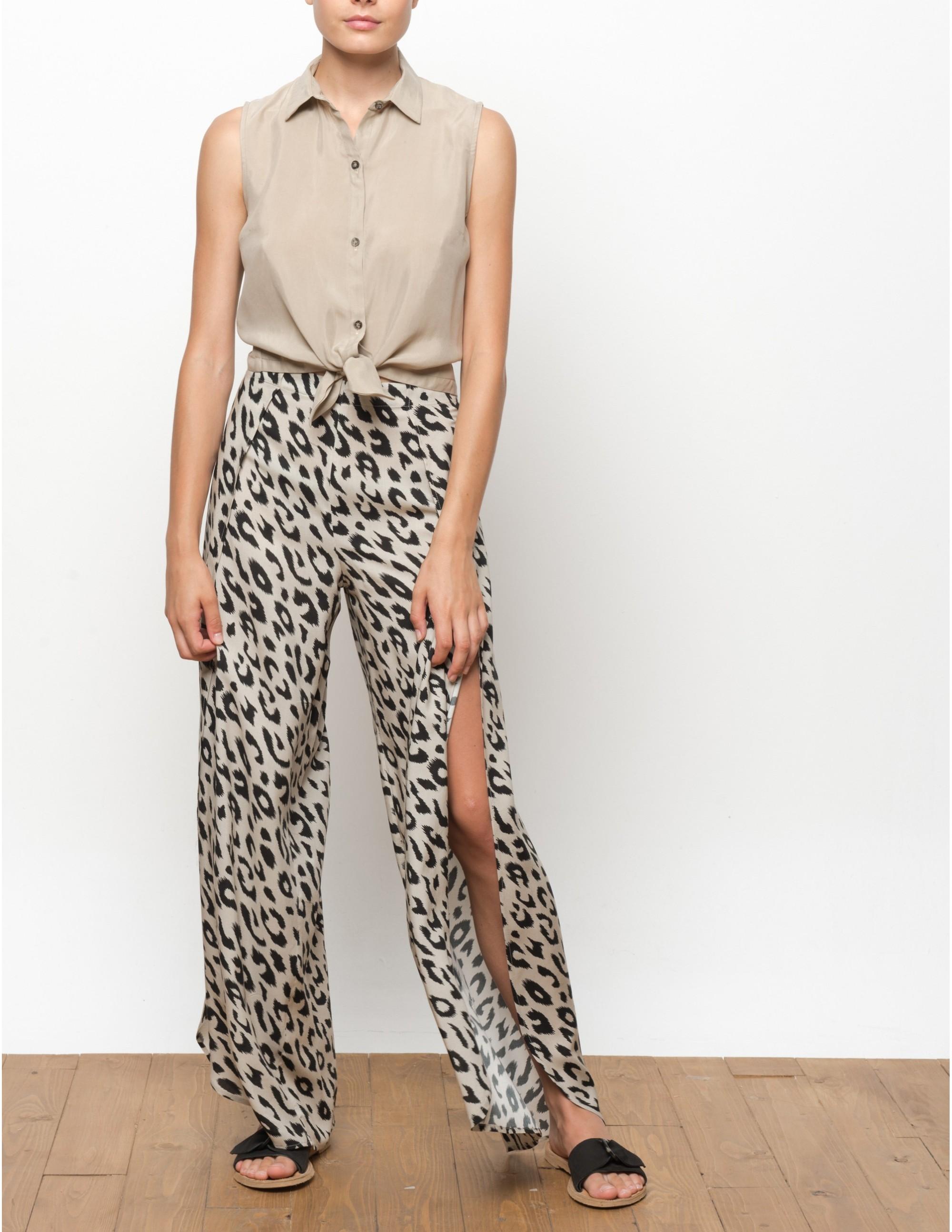 MISALI trousers - LEOPARD