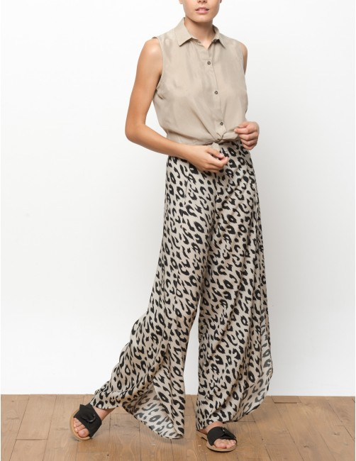 MISALI camisa sin mangas en cupro - TANNED - RESET PRIORITY