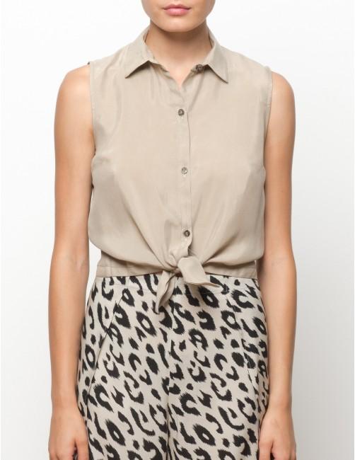 MISALI camisa sin mangas de cupro - TANNED - RESET PRIORITY