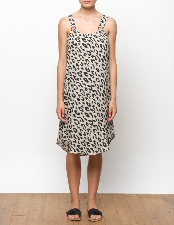 VUMA vestido - LEOPARD - RESET PRIORITY