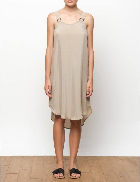 VUMA vestido en cupro - TANNED - RESET PRIORITY