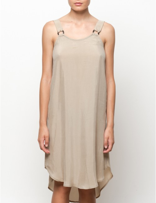 VUMA cupro dress - TANNED - RESET PRIORITY