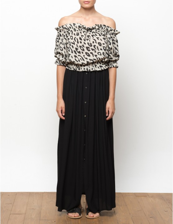 BAWI long skirt with buttons - BLACK - RESET PRIORITY