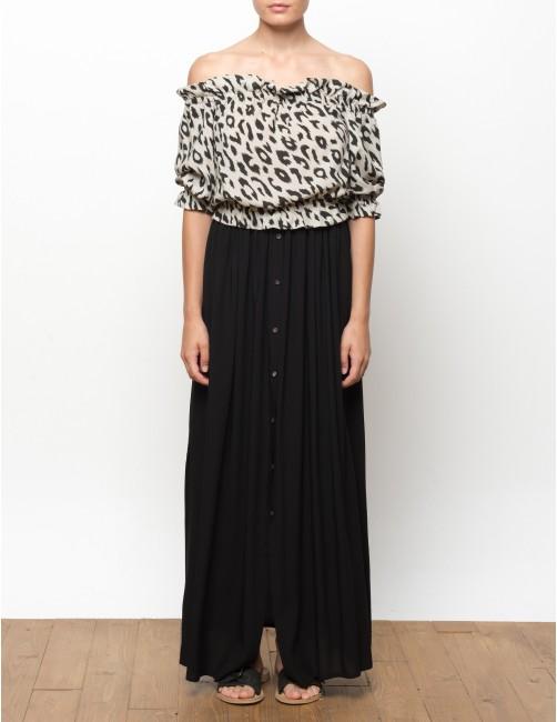 BAWI falda larga con botones - BLACK - RESET PRIORITY