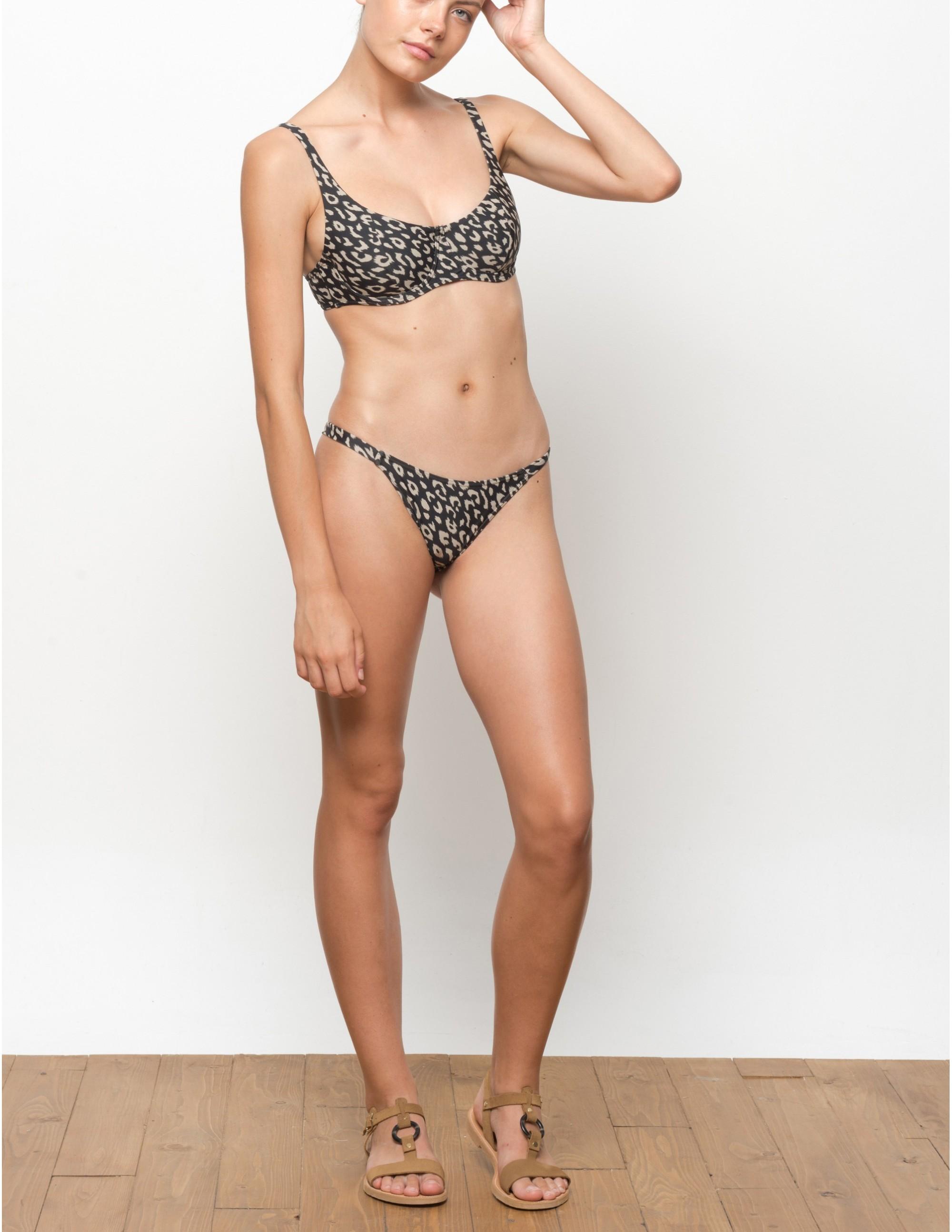 KIGO bikini top - LEOPARD