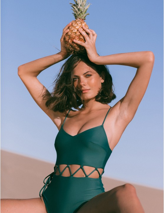 PYLA swimsuit - FRESH GREEN - RESET PRIORITY