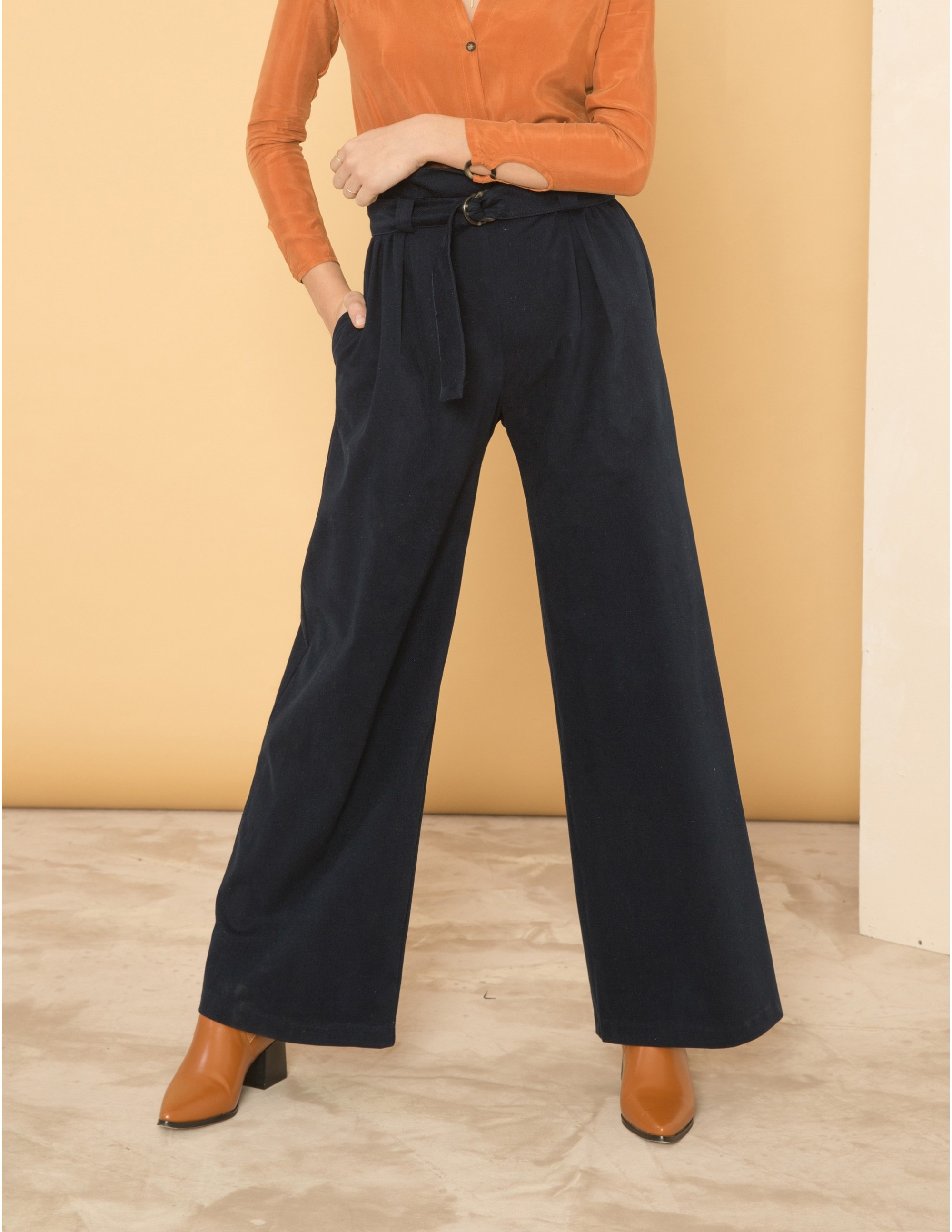 PROJECTION trousers - BLU NOTTE