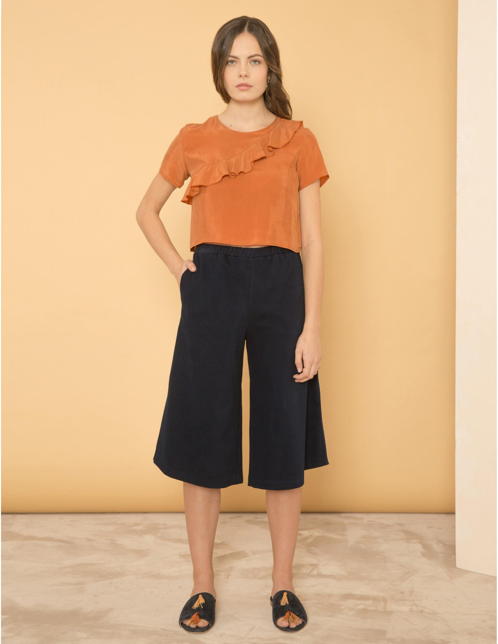 DISTRACTION trousers - BLU NOTTE