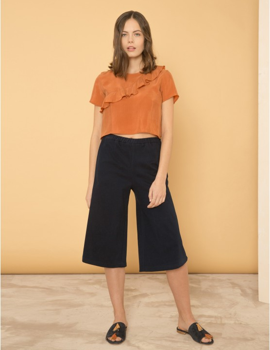 DISTRACTION trousers - BLU NOTTE - RESEt PRIORITY
