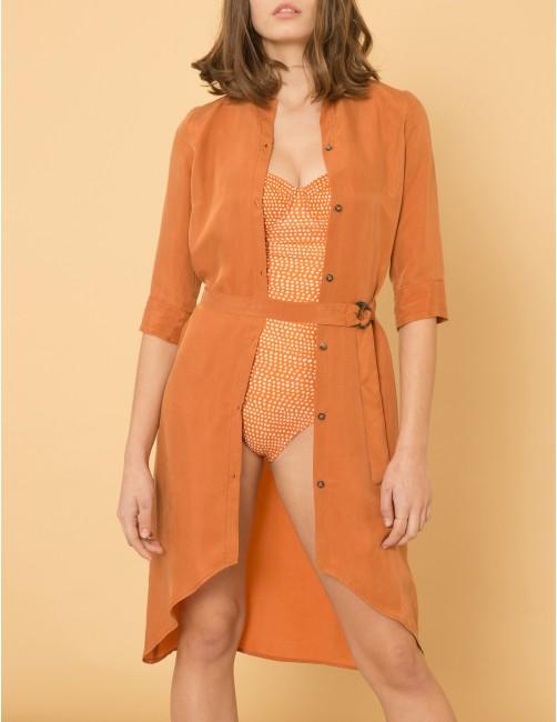 SEDUCTION Dress - SWEET CINNAMON - RESET PRIORITY