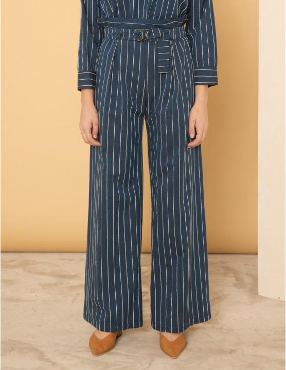 High waist bikini bottom Coki - Profondo Blu velvet