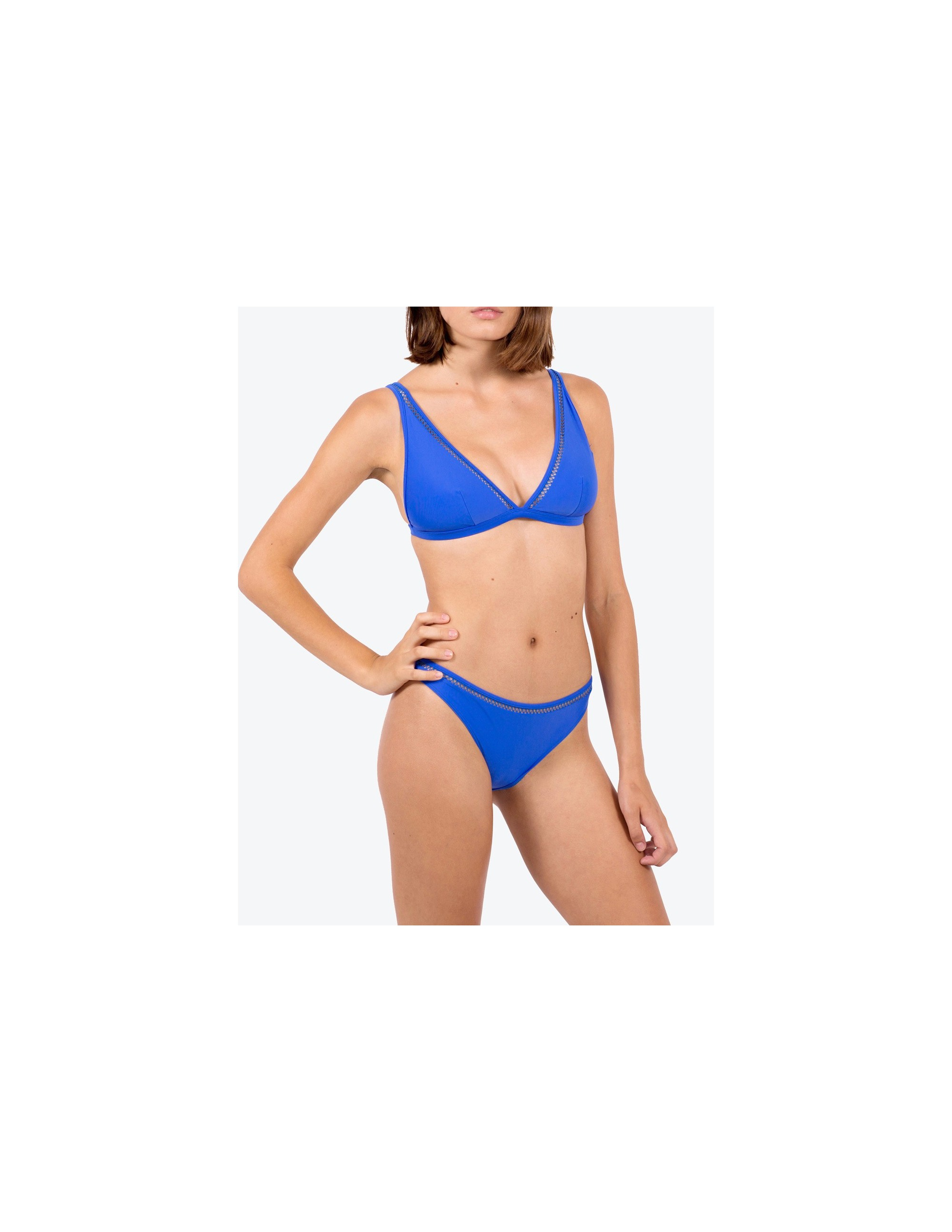 BELLA bikini top - ECHO BLUE