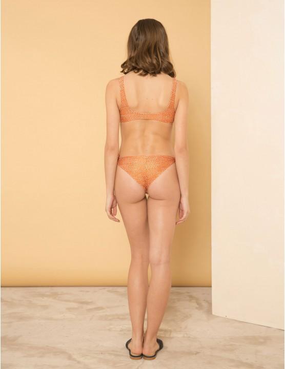 Bikini top Coki - ultra thin Graphite neoprene