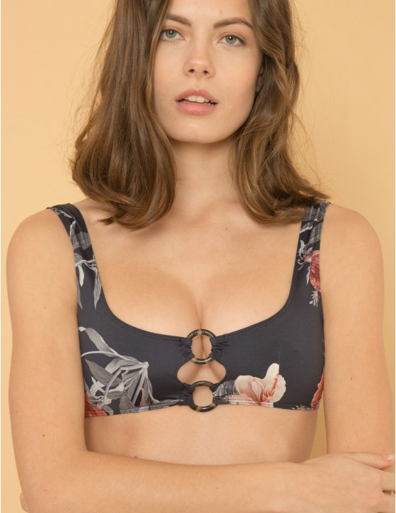 Bikini top Taha - Geometries black