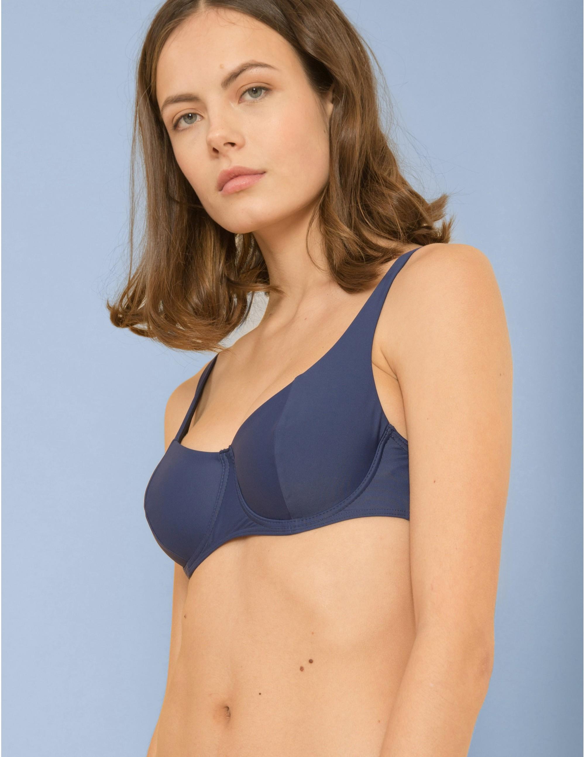 KIGO bikini top - BLU NOTTE