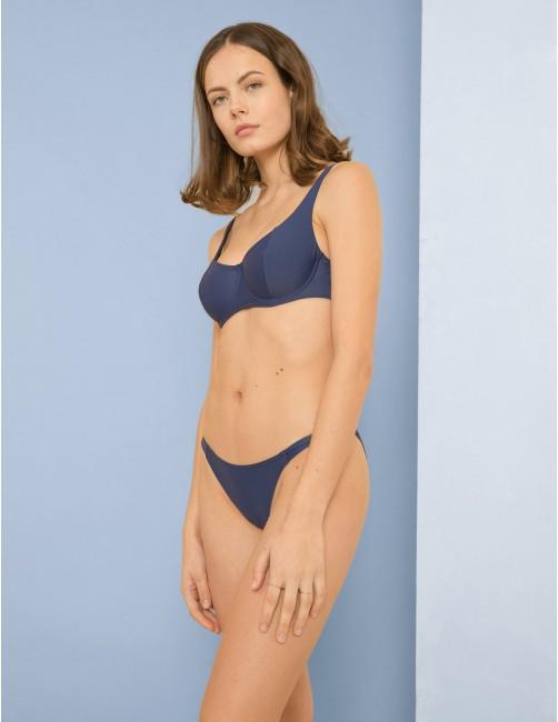 KIGO bikini top - BLU NOTTE - RESET PRIORITY