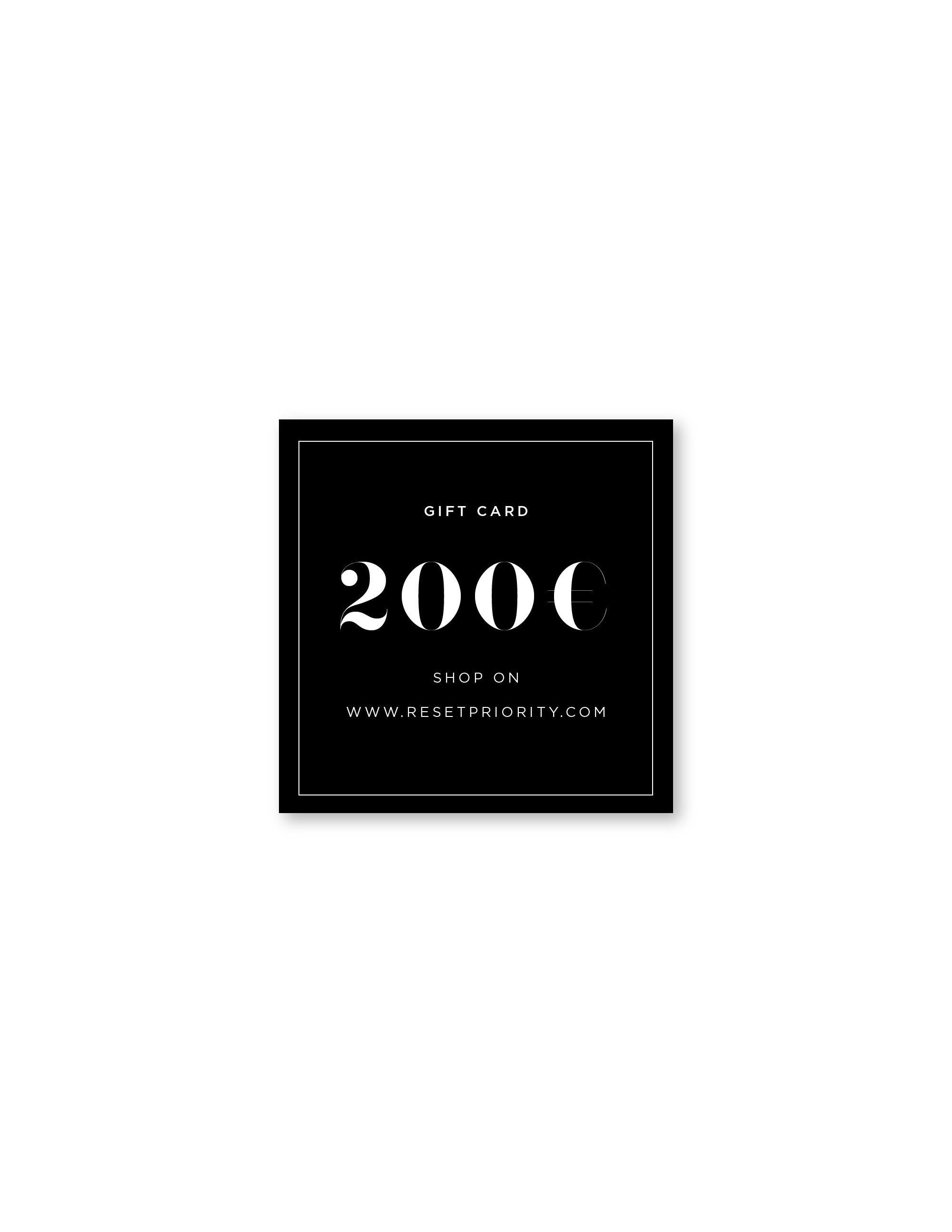 200 Euro GIFT CARD