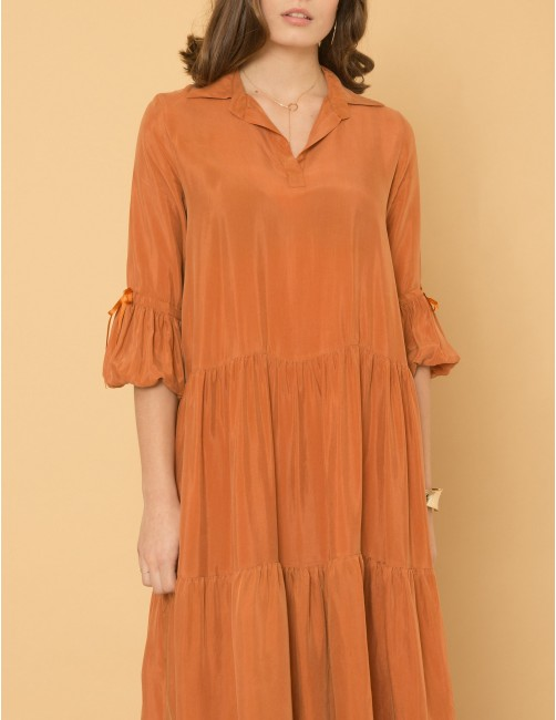 ATTRACTION Dress - SWEET CINNAMON - RESET PRIORITY