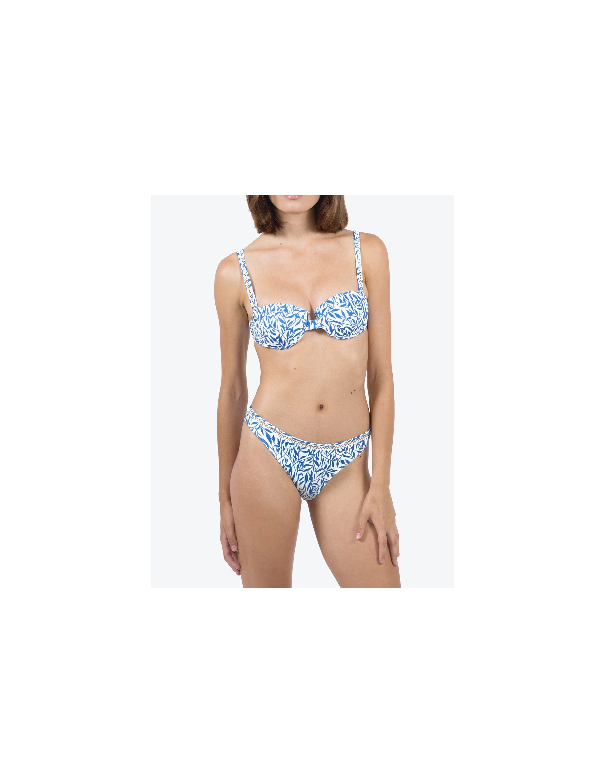 SIMOS bikini top - FLORAL BLUE