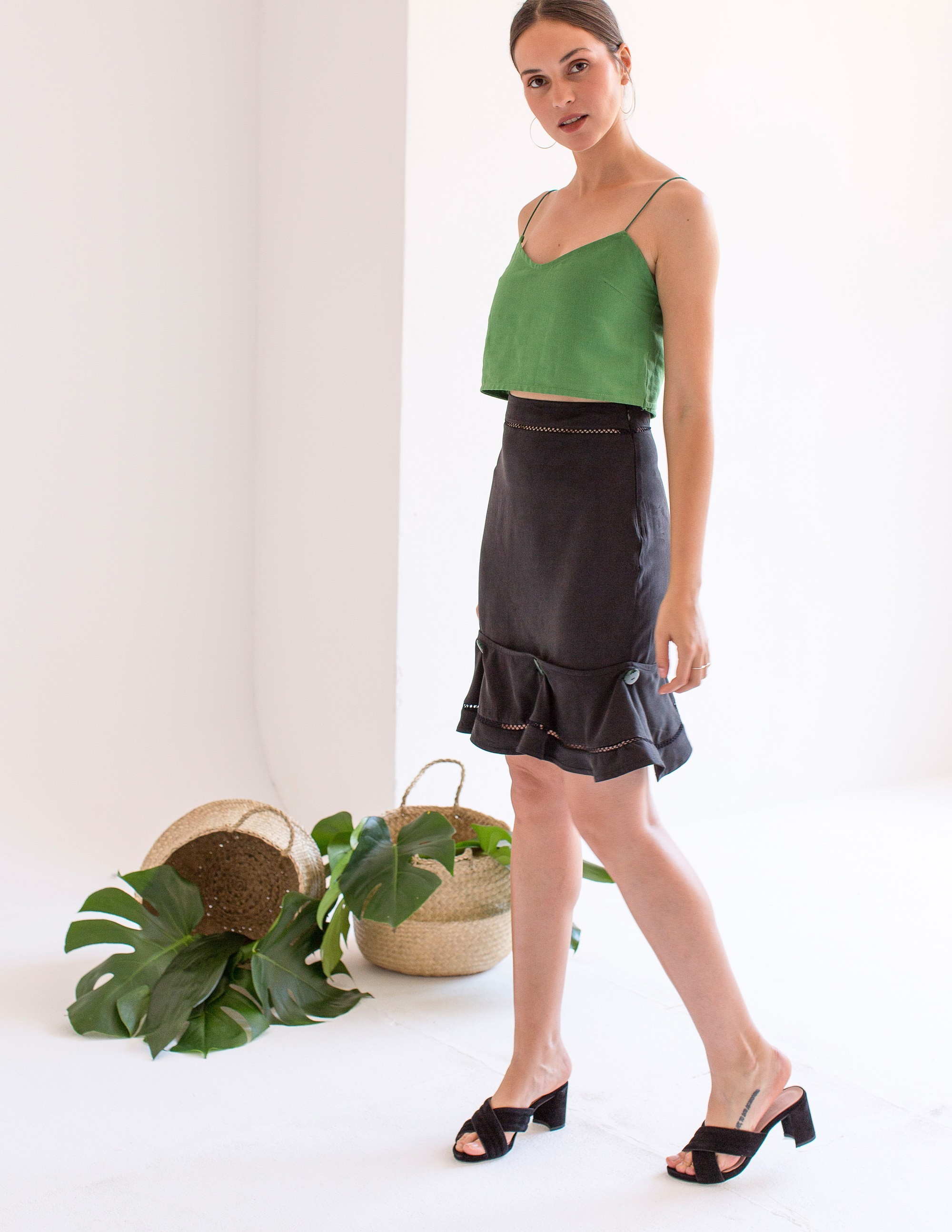 AMALFI Crop top - BAMBOO