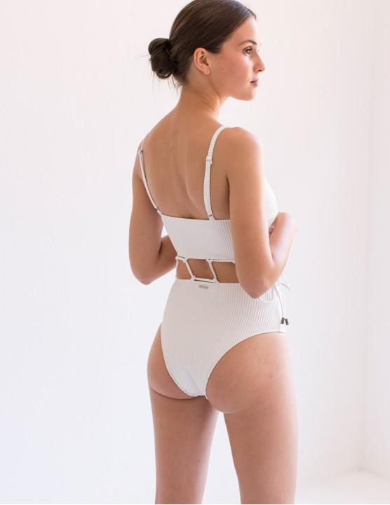 Full cut bikini bottom with mesh details JAZ