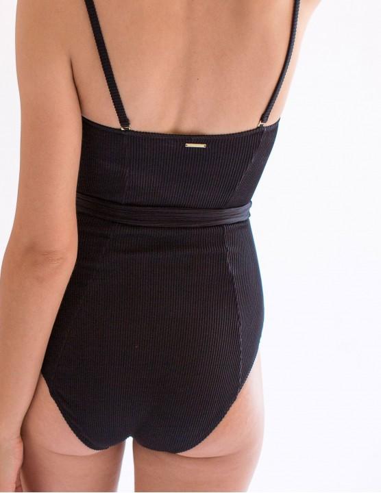 Halter bikini top BELLA - Echo Blue