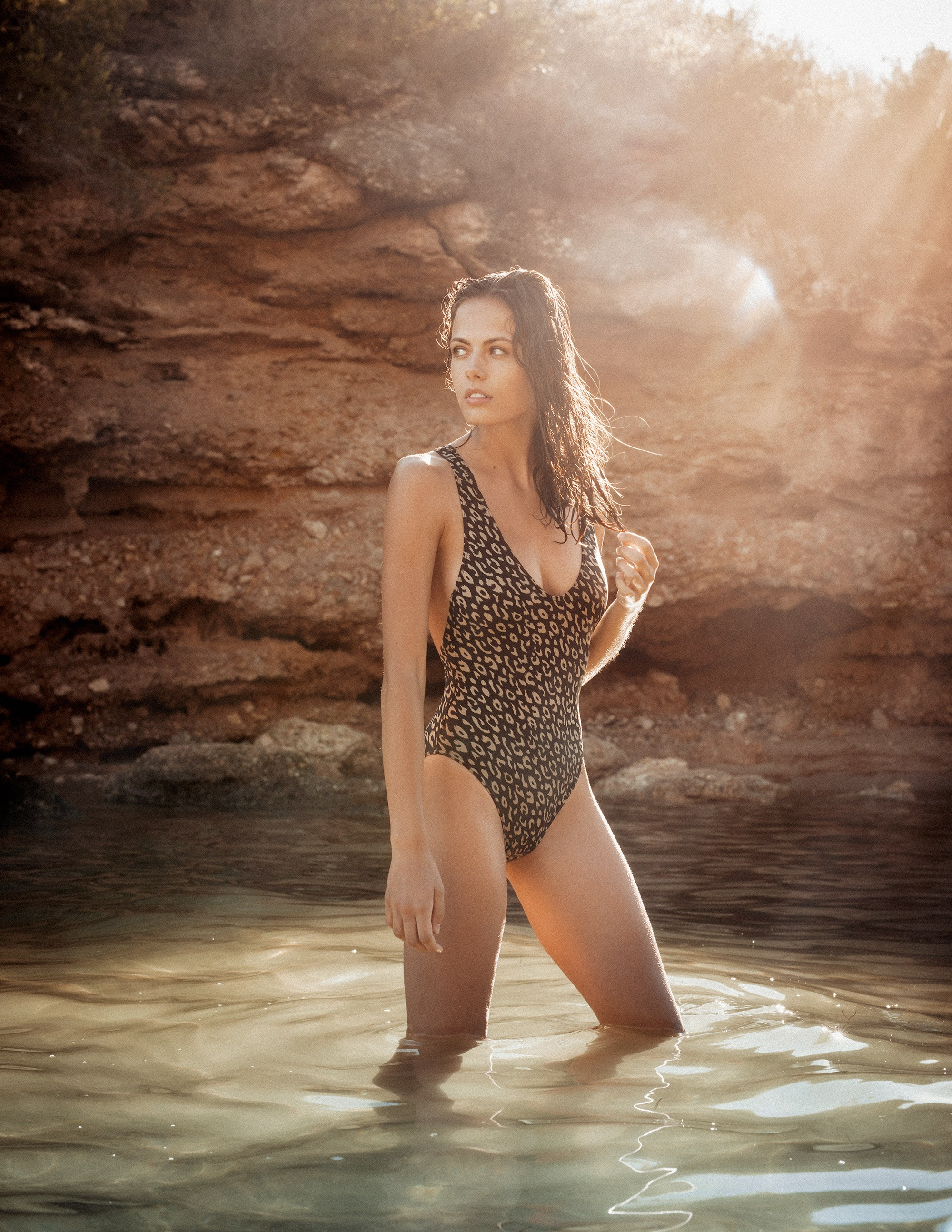 Uroa one piece Leopard swimwear RESET PRIORITY