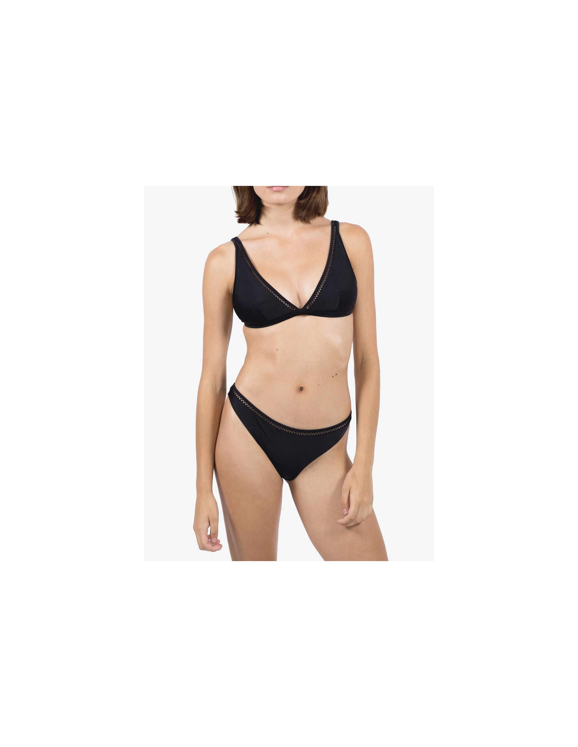 BELLA bikini top - MATTE BLACK