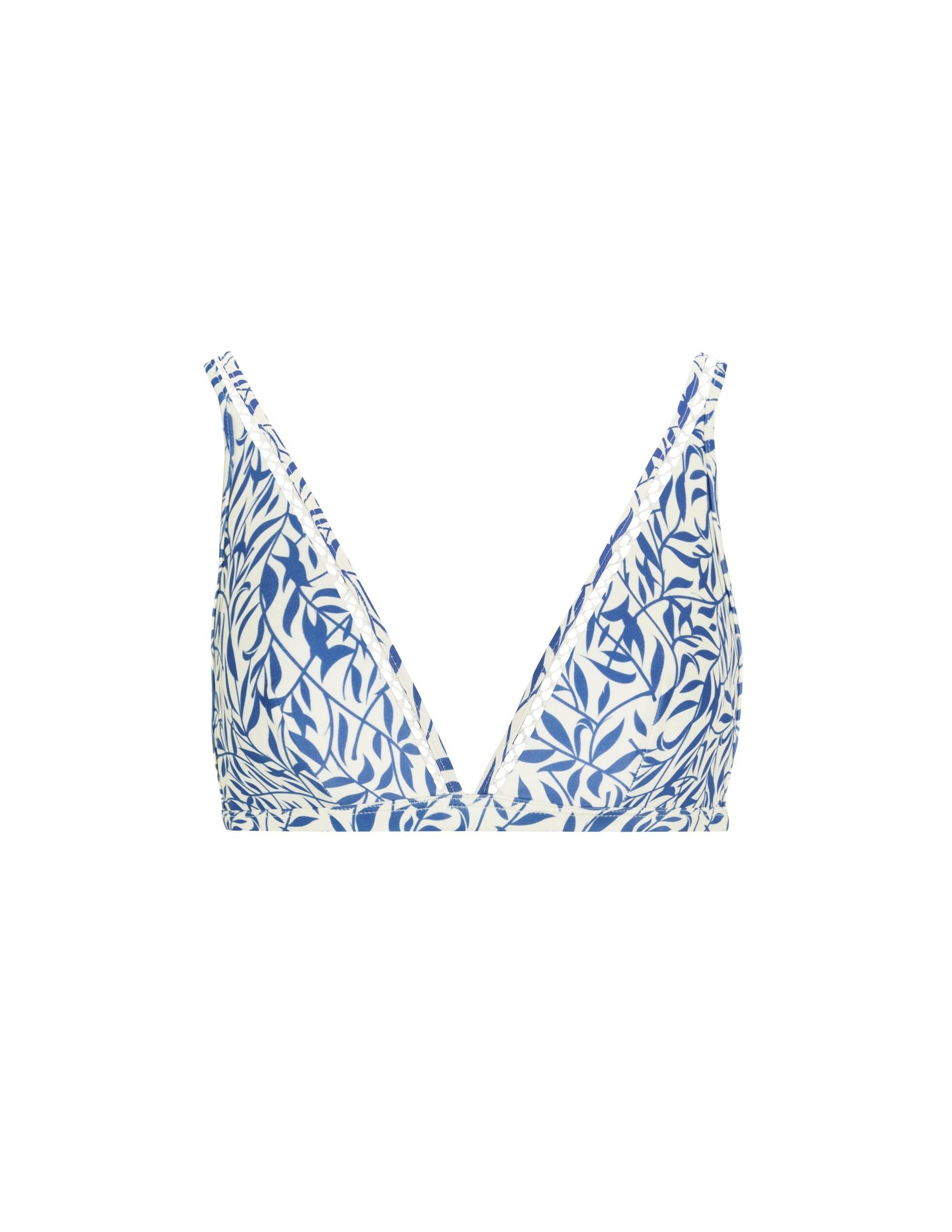 BELLA bikini top - FLORAL BLUE