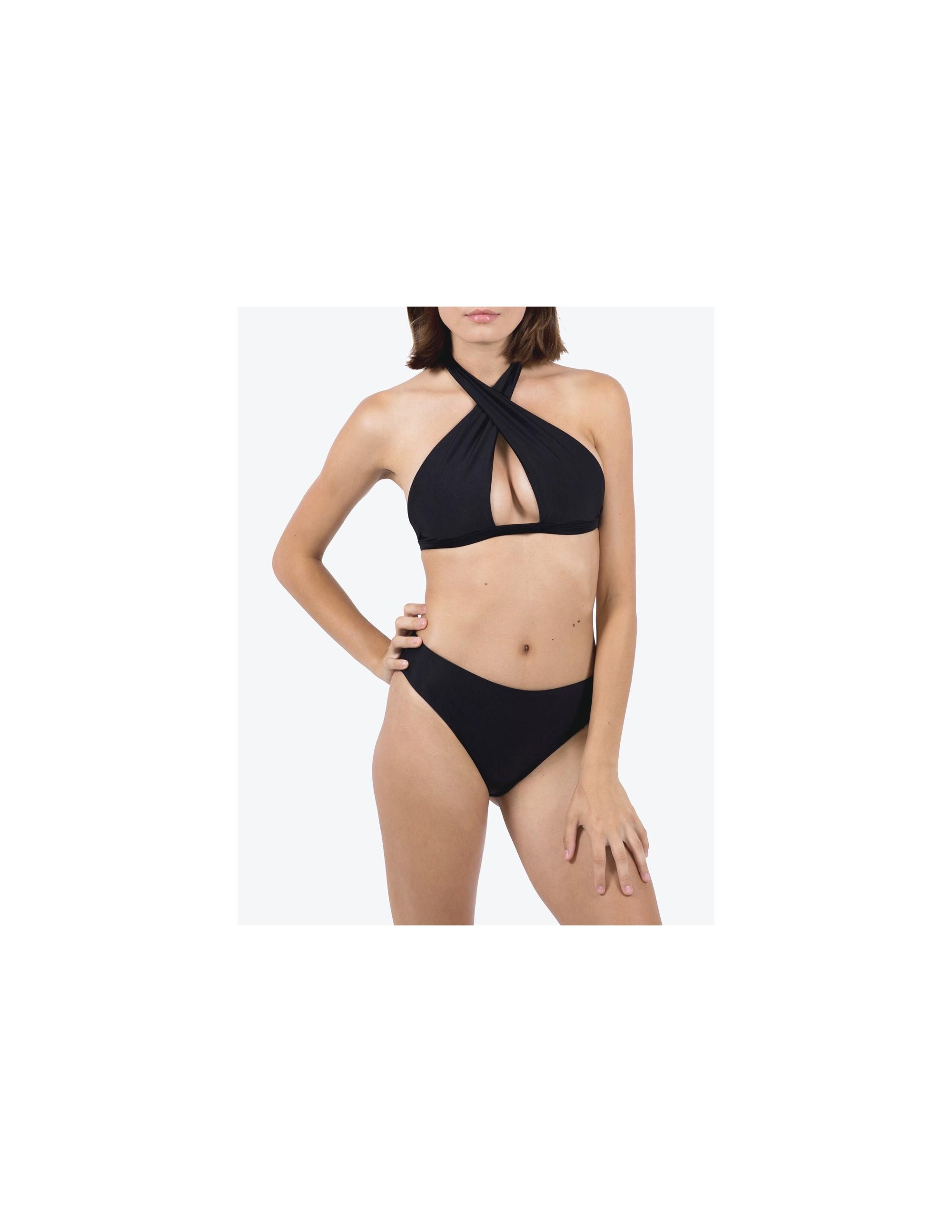 CONTA bikini top - MATTE  BLACK
