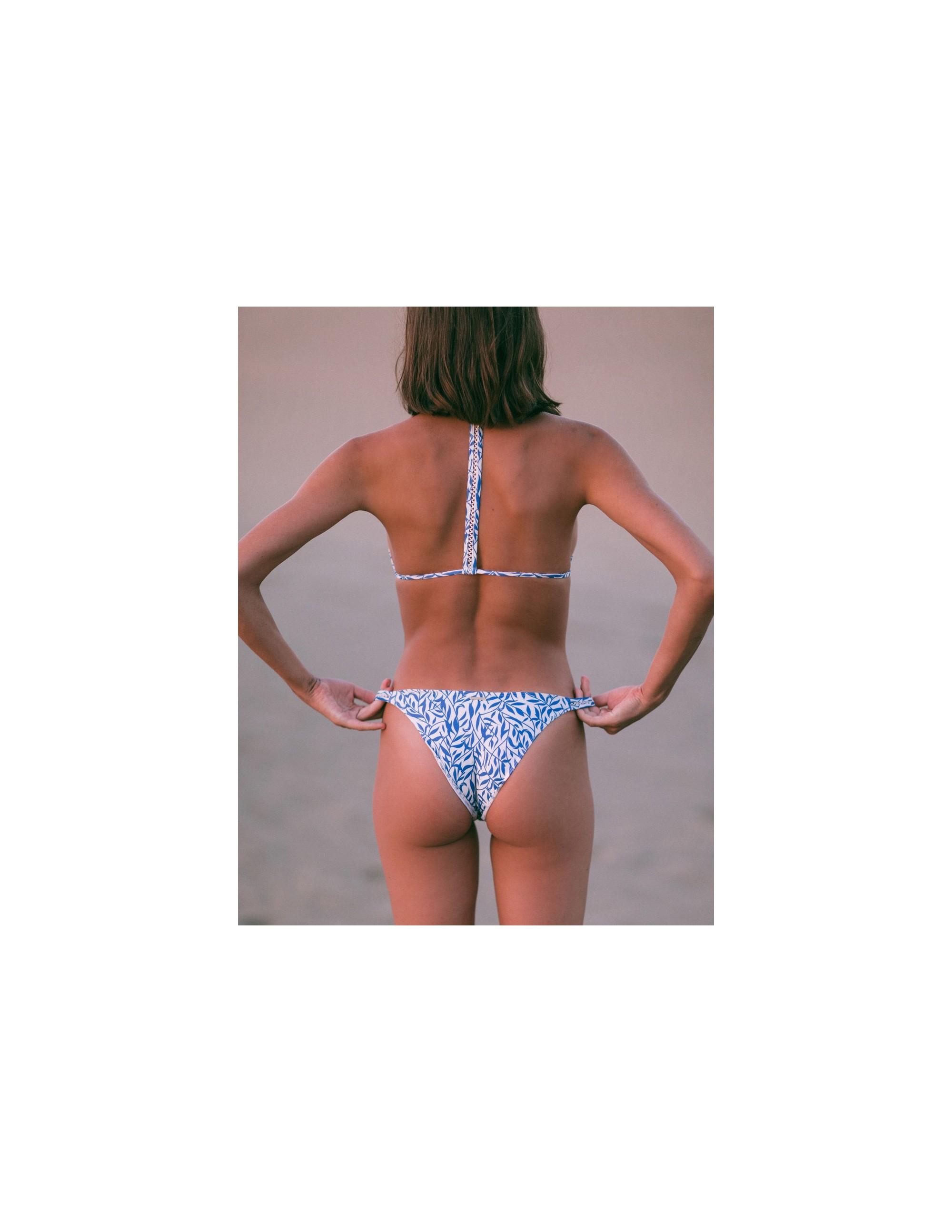 ANAMUR bikini top - FLORAL BLUE