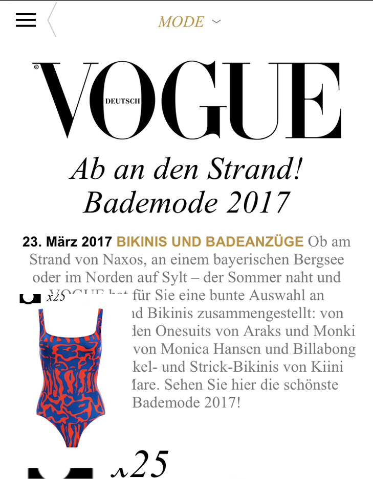 Vogue Germany Bademode 2017 Reset Priority
