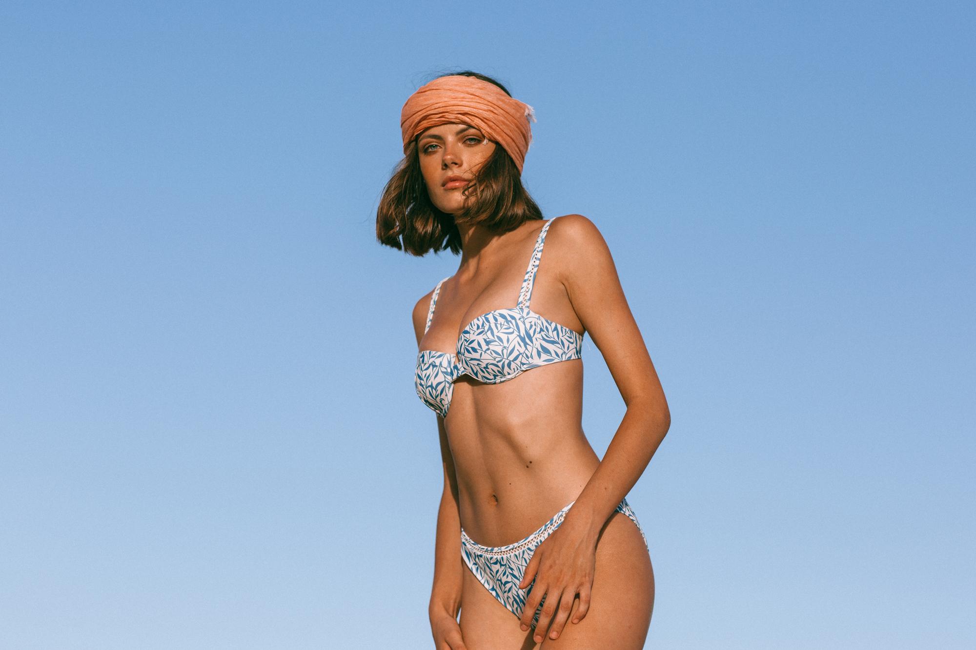 Simos Bikini Top Floral blue Reset Priority
