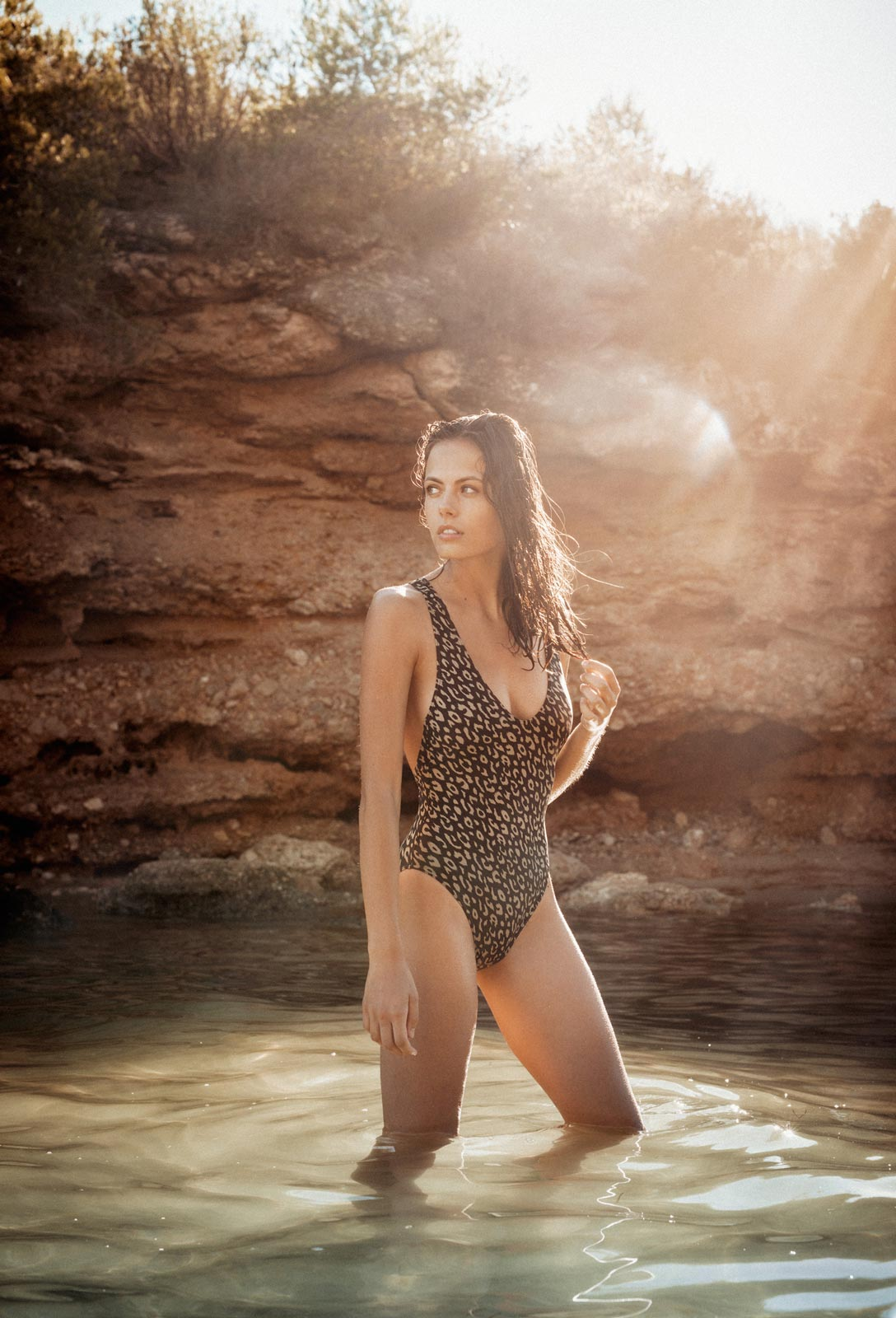 Uroa One piece Swimwear Leopard by RESET PRIORITY