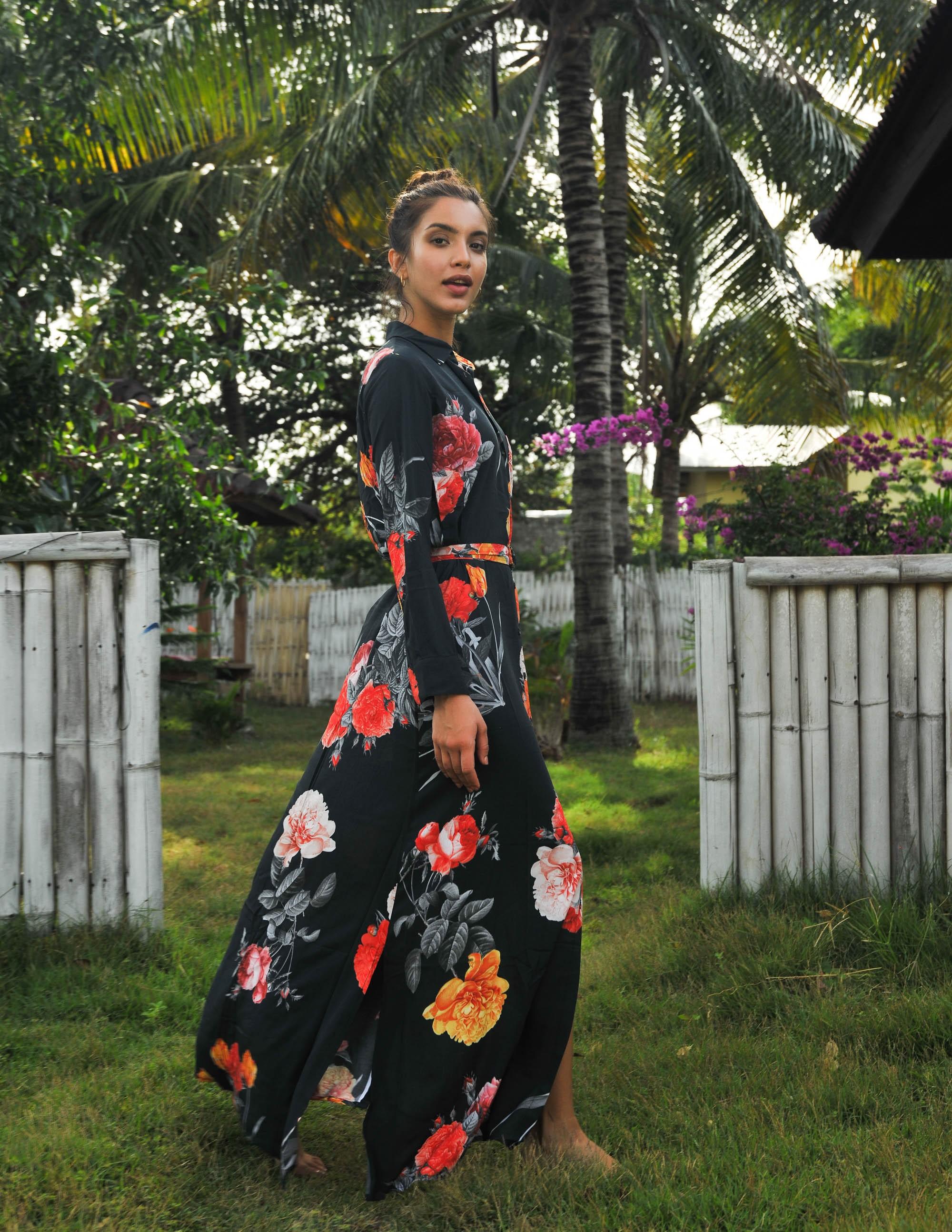 ATTRACTION dress Seet Cinnamon Cupro RESET PRIORITY