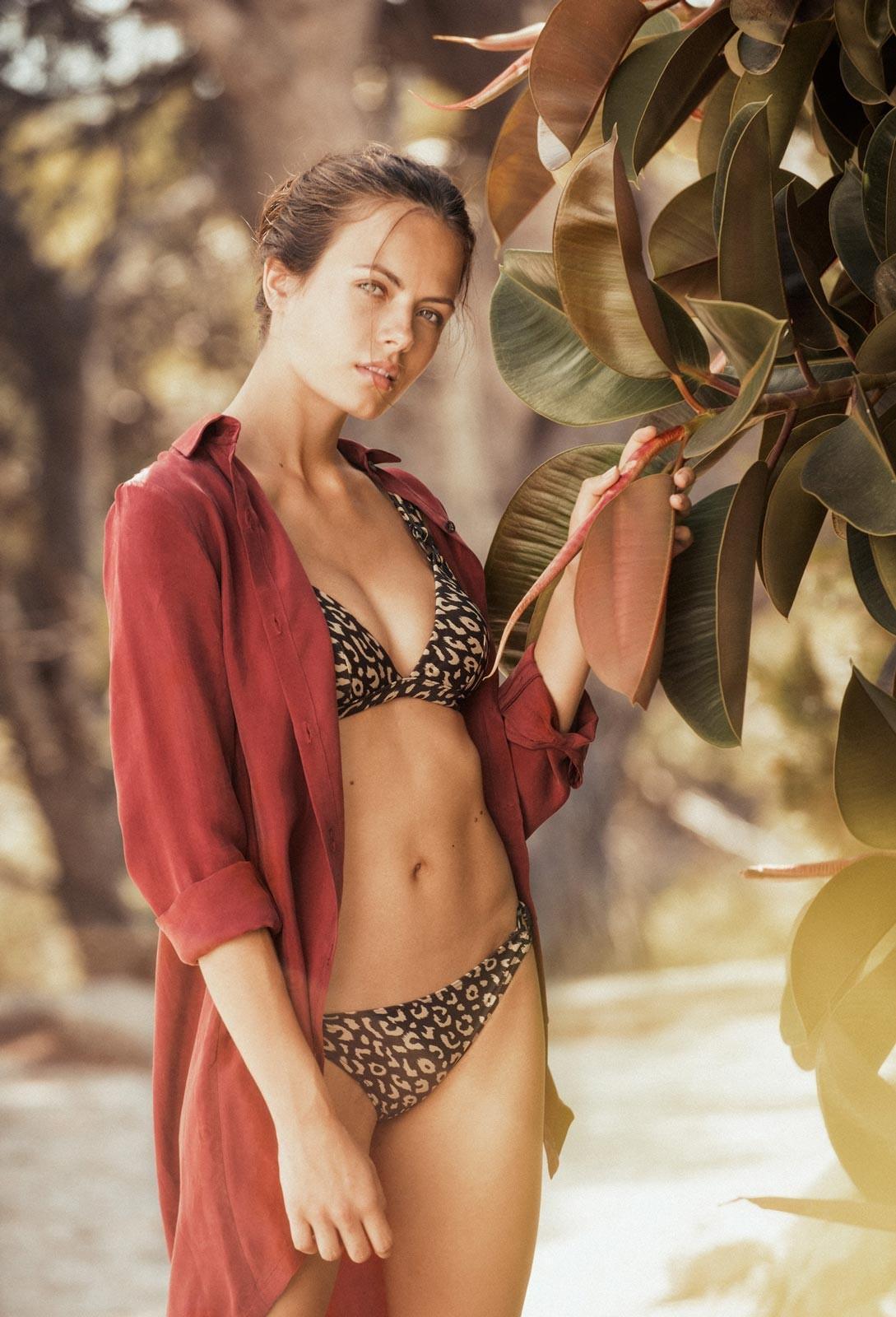 Kigo Shirt - Masaai- Bawe bikini -Leopard