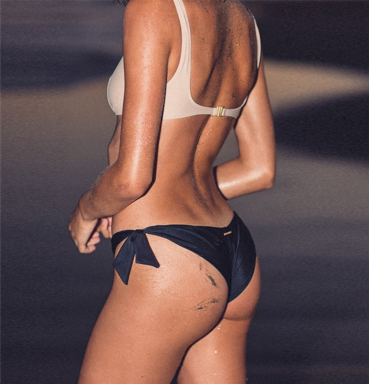Vik bikini top Tanned - Conta bikini bottom Matte black