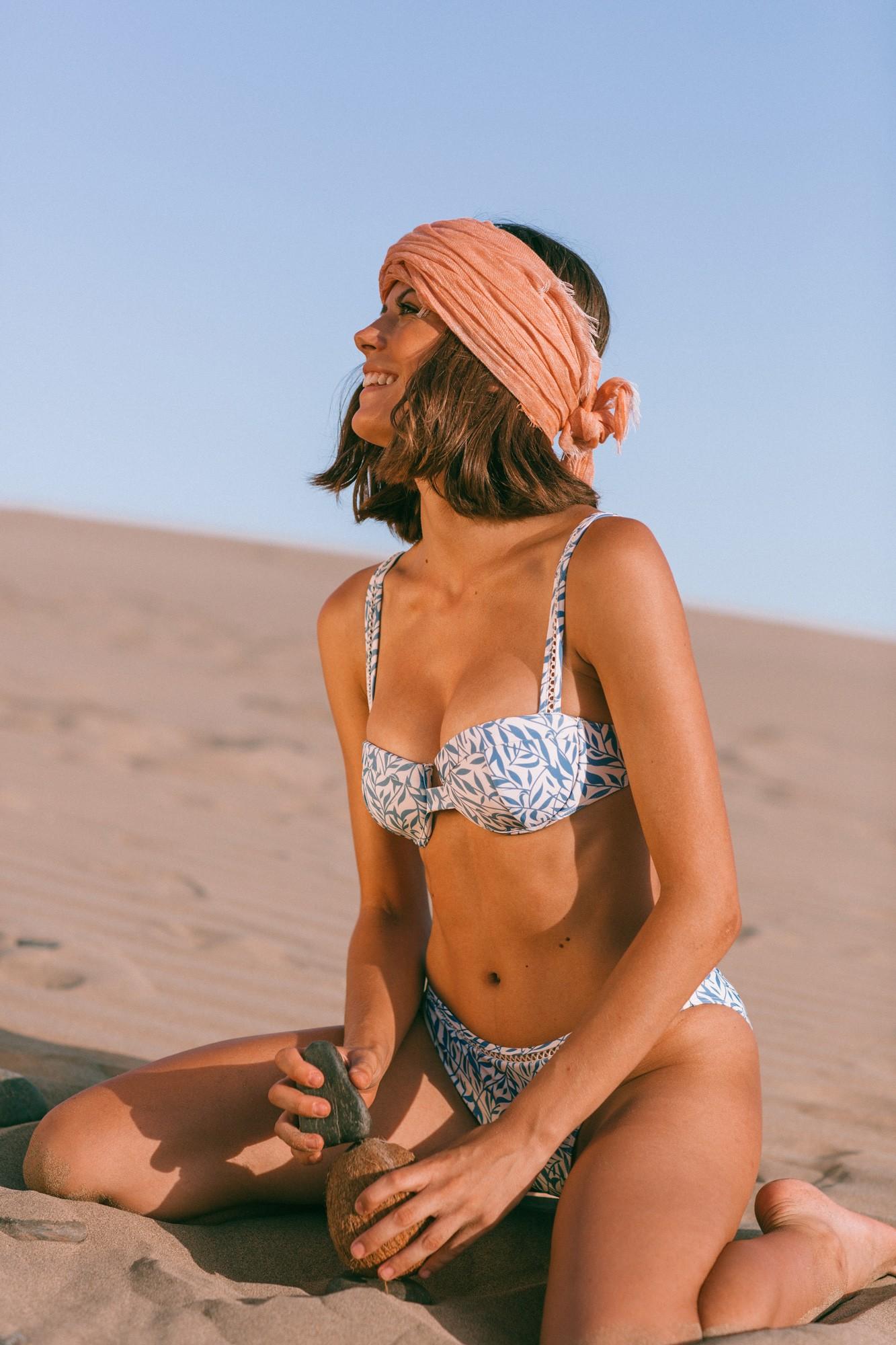 Simos bikini Floral blue